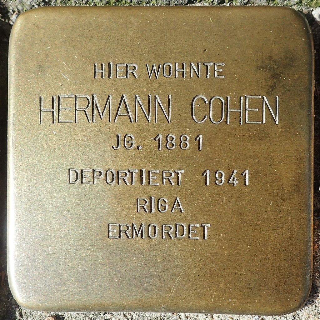 Stolperstein für Hermann Cohen