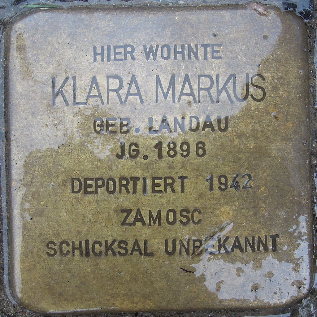 Stolperstein für Klara Markus
