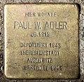 Stolperstein Helgolandstr 3 (Wilmd) Paul W Adler.jpg