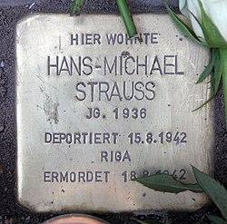 Photo of Hans-Michael Strauss brass plaque