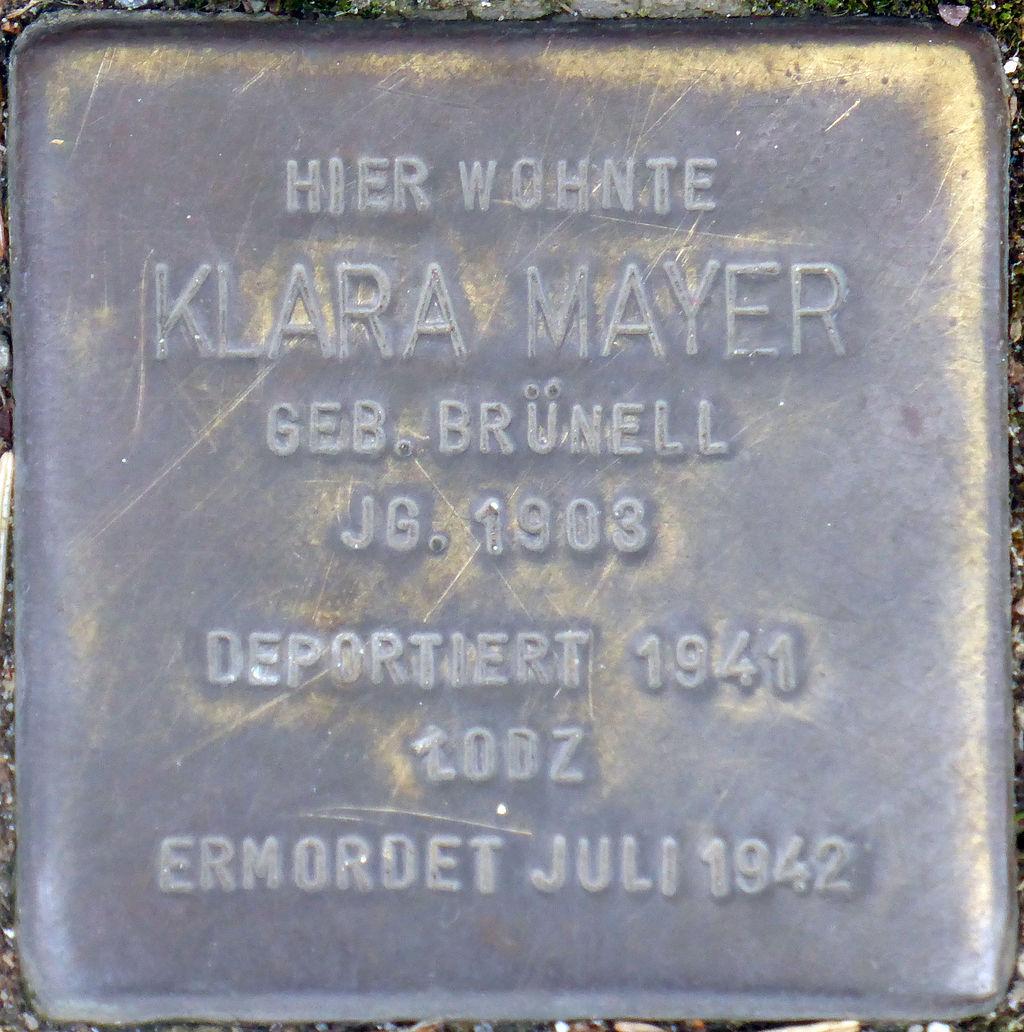 Stolperstein Köln, Klara Mayer (Marktstraße 6).jpg