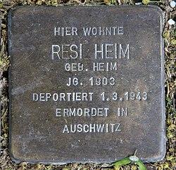 Photo of Resi Heim brass plaque