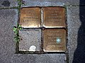 Stolpersteins Salo Cahn, Hugo Cahn, Edith Cahn Bonner Straße 74 Bonn.JPG