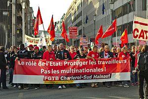 Transatlantic Trade and Investment Partnership - The Stop TTIP-CETA protest in Brussels, Belgium, 20 September 2016