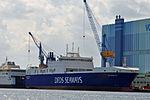 Stralsund, Volkswerft, IMO 9609952 Ark Germania (2013-07-30) 1, by Klugschnacker in Wikipedia.JPG