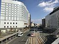 Street view from pedestrian deck in front of Kumamoto Station.jpg