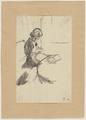 Strickende Frau, auf dem Tisch ein Buch liegend (SM alh103z).png