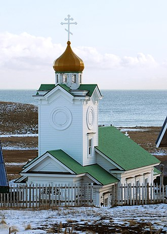 Saint Paul Island (Alaska) - Sts. Peter and Paul Russian Orthodox Church, built in 1907