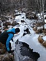 Student over the ice-covered stream.JPG