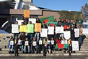 Students at University of Guelph and Waterloo University, Waterloo, Ontario.
