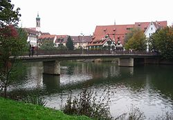 The river Neckar in Rottenburg