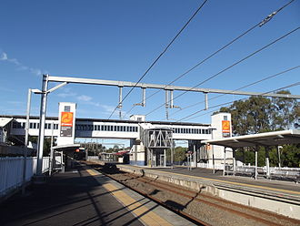 Sunnybank railway station - Southbound view from Platform 1 in July 2012