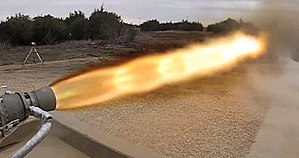 Draco (rocket engine family) - SuperDraco firing at full thrust