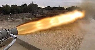 Draco (rocket engine family) - SuperDraco firing at full thrust