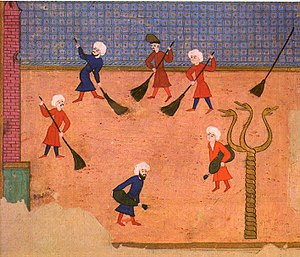 Serpent Column - Ottoman miniature from the Surname-i Vehbi, showing the Column with the three serpent heads, but the bowl already missing, in a celebration at the Hippodrome in 1582