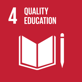 Sustainable Development Goal 4 The 4th of 17 Sustainable Development Goals to achieve qualilty education for all