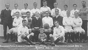 Swansea City A.F.C. - The Swansea Town team during its first season, 1912–13