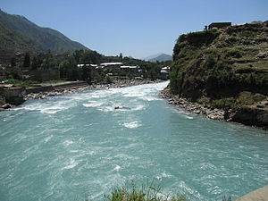 English swat river in nwfp pakistan