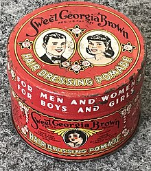 Sweet Georgia Brown Hair Dressing Pomade from 1947