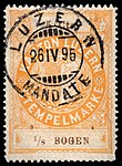Switzerland Lucerne 1894 revenue 5 5c - 44 - E 12 94.jpg