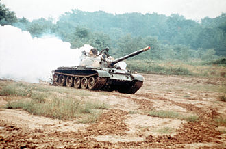 76th Tank Division - A T-62 tank of the type included in the division's equipment set