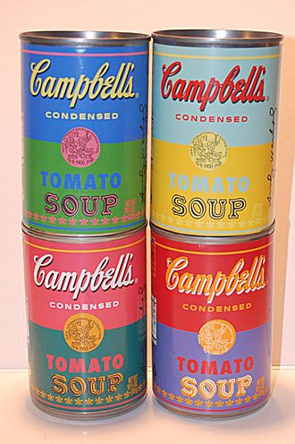 Canning - Special-edition steel soup cans commemorating Andy Warhol's paintings