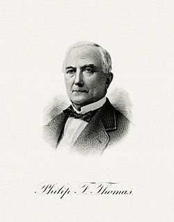 THOMAS, Philip F-Treasury (BEP engraved portrait)