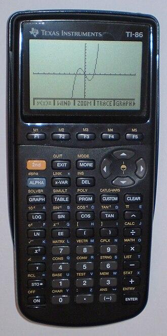 TI-86 - Image: TI 86 calculator