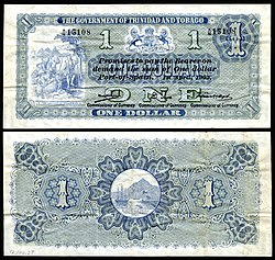 First government issue one-dollar note (1905).