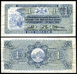 Trinidad and Tobago dollar - Image: TRI&TOB 1b Trinidad & Tobago 1 Dollar (1905)