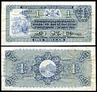 Trinidad and Tobago dollar - Image: TRI&TOB 1b Trinidad & Tobago 1 Dollar (1905)