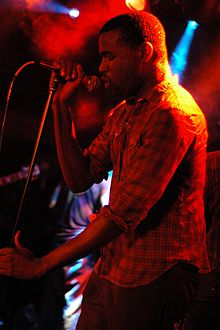 Tunde Adebimpe performing live with TV on the Radio at Debaser, Stockholm, Sweden, September 13, 2004