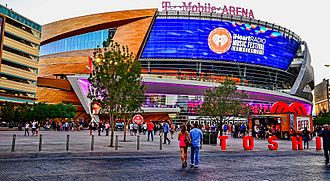 T-Mobile Arena - Exterior of the arena