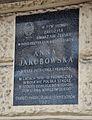 Tablica Anna Jakubowska kamienica pod Gryfami w Warszawie.JPG