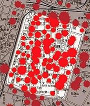台北大空襲的城內彈着略圖