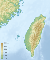 Topographic map of Taiwan