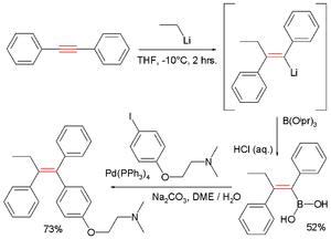 Carbometalation - Tamoxifen carbometalation