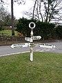 Tangley - Metal Road Sign - geograph.org.uk - 1149389.jpg