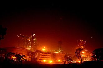 Tata Steel - Tata Steel's Jamshedpur plant at night