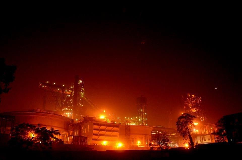 Tata Steel at Night