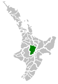 Location of Taupo Territorial Authority within New Zealand