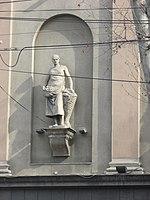 Tbilisi, Rustaveli cinema statue 4.JPG