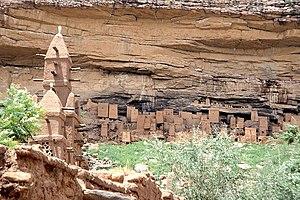 Bandiagara Escarpment - Image: Tellem Dwelling Bandiagara Escarpment Mali