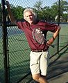 Tennis coach and social studies instructor Peter Tierney at Memorial Field courts.jpg