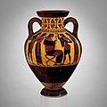 Terracotta neck-amphora of Panathenaic shape (jar) MET DP155169.jpg