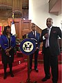 Terri Sewell, Al Shaprton and William A. Bell in Jefferson County, Alabama.jpg