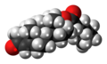 Testosterone cypionate molecule spacefill.png