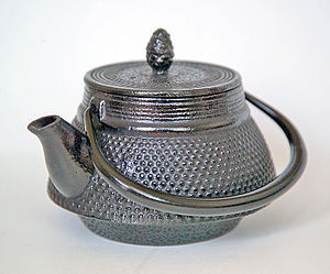 Tōhoku region - Cast iron teapots like this one sit atop stoves during the long winters in Tōhoku.