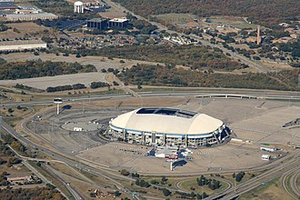 Irving, Texas - Texas Stadium, the now-demolished former home of the Dallas Cowboys in Irving.