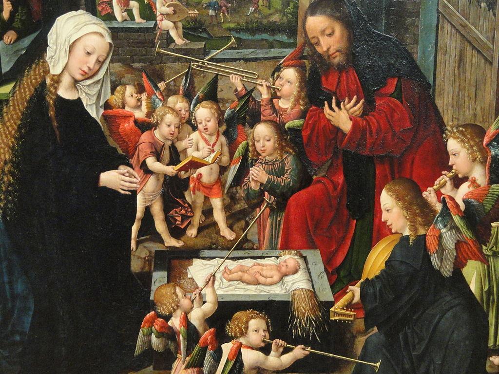 The Adoration of the Christ Child, detail, c. 1515, by Jacob Cornelisz van Oostsanen and workshop - Art Institute of Chicago - DSC09642.JPG